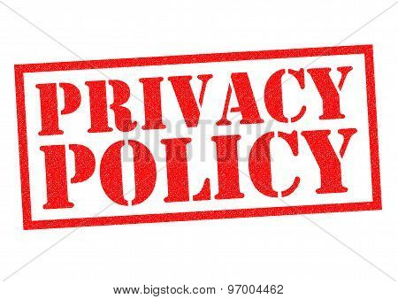 Постер, плакат: Privacy Policy, холст на подрамнике