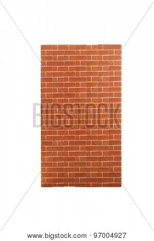 Ready made tile imitating brick wall