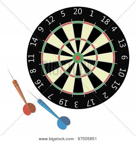 Vector illustration of darts