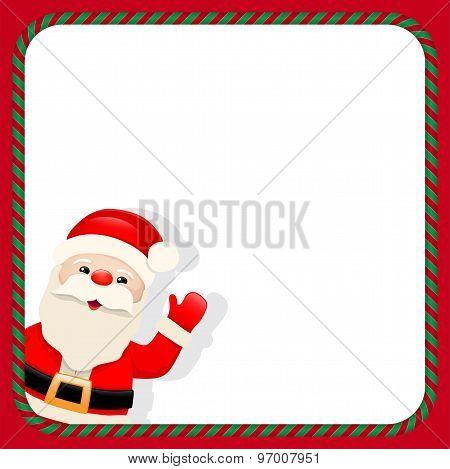 Santa Claus In Christmas Frame