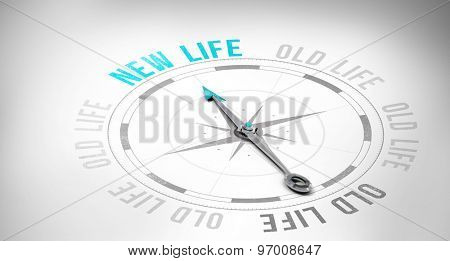 Compass against new life or old life