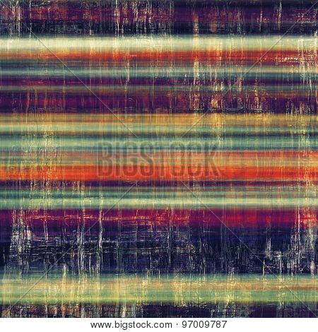 Retro background with old grunge texture. With different color patterns: yellow (beige); purple (violet); blue; red (orange)
