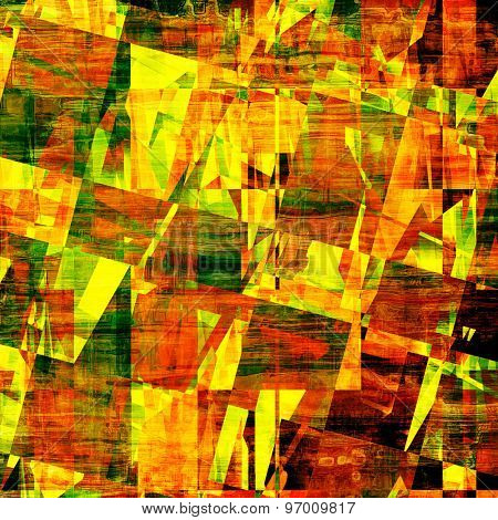 Abstract distressed grunge background. With different color patterns: yellow (beige); brown; green; red (orange)