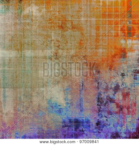 Beautiful antique vintage background. With different color patterns: yellow (beige); purple (violet); blue; red (orange)