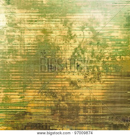 Vintage old texture for creative retro background. With different color patterns: yellow (beige); brown; gray; green