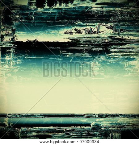 Vintage old texture for creative retro background. With different color patterns: yellow (beige); blue; black; cyan