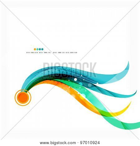 Modern blue and orange color shape composition. Abstract background