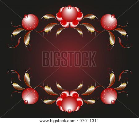 Pattern in the form of flower buds and leaves. EPS10 vector illustration