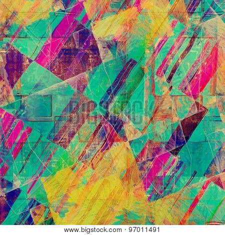 Abstract grunge background. With different color patterns: yellow (beige); purple (violet); pink; blue; green