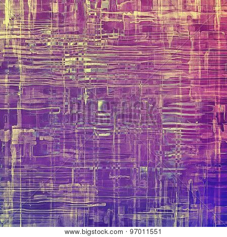 Vintage texture with space for text or image. With different color patterns: yellow (beige); purple (violet); pink; blue