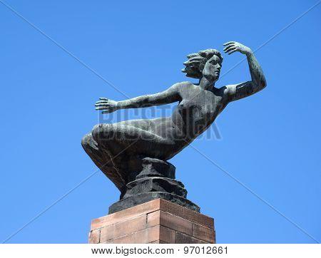 Bronze figure Venus in Freudenstadt, Germany
