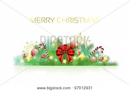 Christmas Decoration, Green Branches