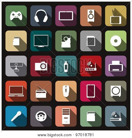 Icons Digital Devices, Vector Illustration