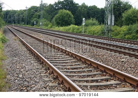 rail railway track Bahn train Eisenbahn transport