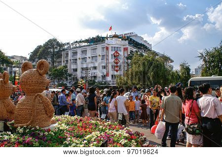 Party Atmosphere At Tet-festivities In Ho Chi Minh City (saigon), Vietnam