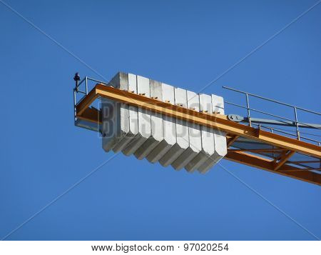 Heavy weight construction crane