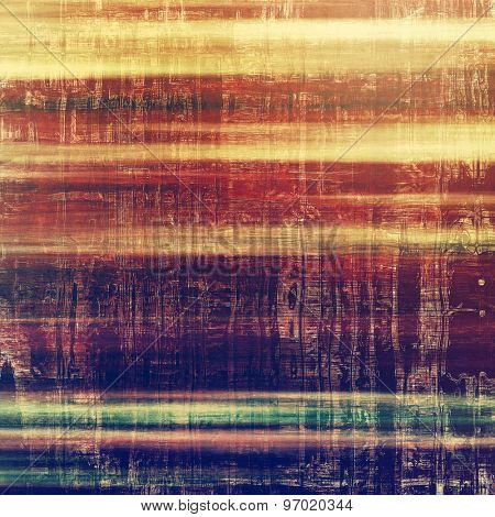 Abstract grunge background or old texture. With different color patterns: yellow (beige); brown; purple (violet); green