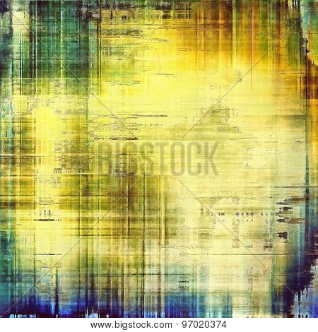 Grunge aging texture, art background. With different color patterns: yellow (beige); brown; blue; green