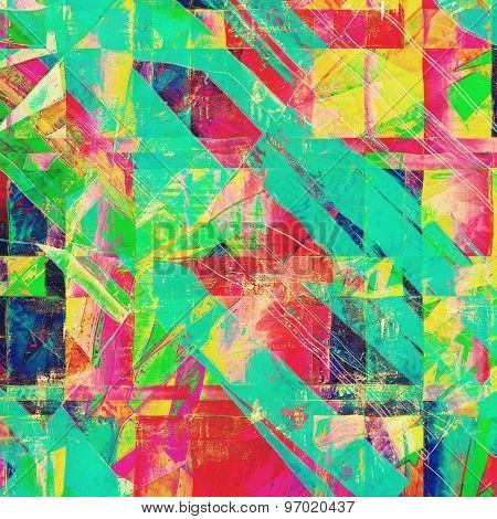 Abstract retro background or old-fashioned texture. With different color patterns: yellow (beige); pink; blue; green; red (orange)