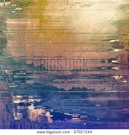 Beautiful vintage background. With different color patterns: yellow (beige); brown; purple (violet); blue