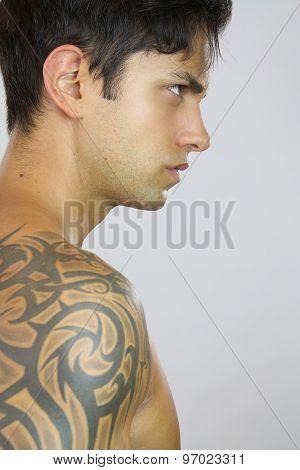 Sexy man tattooed