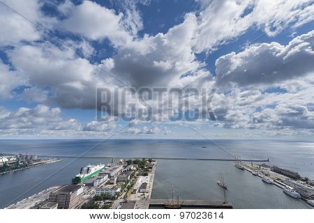 Aerial View Of Gdynia