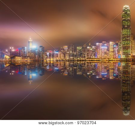 Panorama of Hong Kong and Financial district
