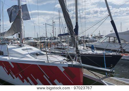 Yacht Boats In Marina
