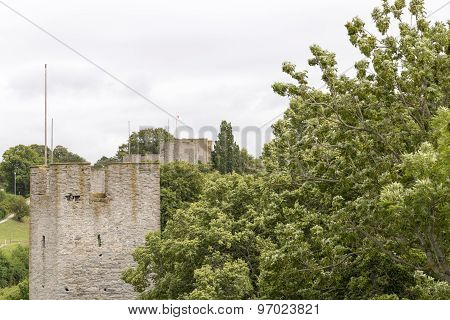 Town Wall Of Visby, Gotland In Sweden