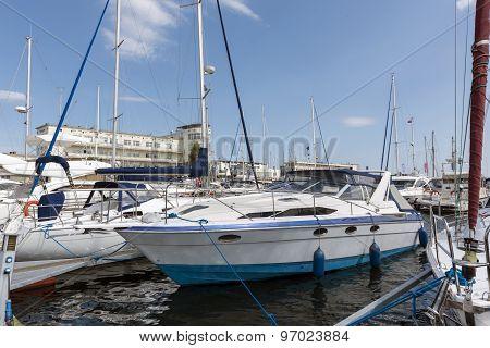Marina Of Gdynia In Poland