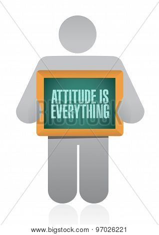 Attitude Is Everything Avatar Board Sign Concept