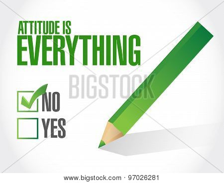 Attitude Is Everything Check List Sign Concept