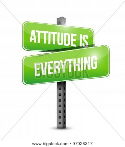 Attitude Is Everything Street Sign Concept