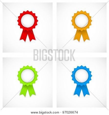 award label colored icon