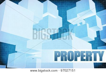 Property on Futuristic Abstract for Presentation Slide