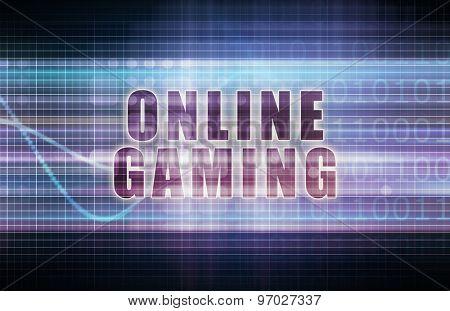 Online Gaming on a Tech Business Chart Art