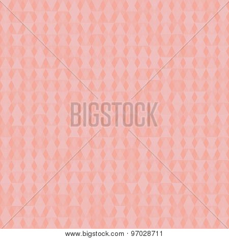 Pink Background With Rhombus. Vector.