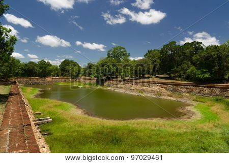 Ruins of ancient royal swiming pool