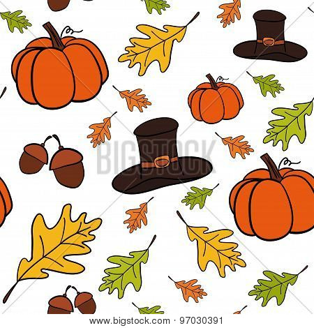 Seamless vector pattern of Thanksgiving