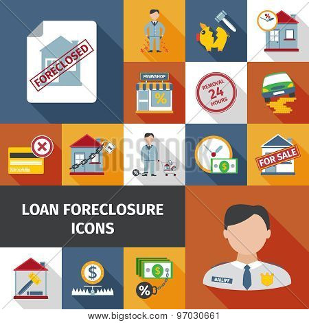 Loan Foreclosure Icons