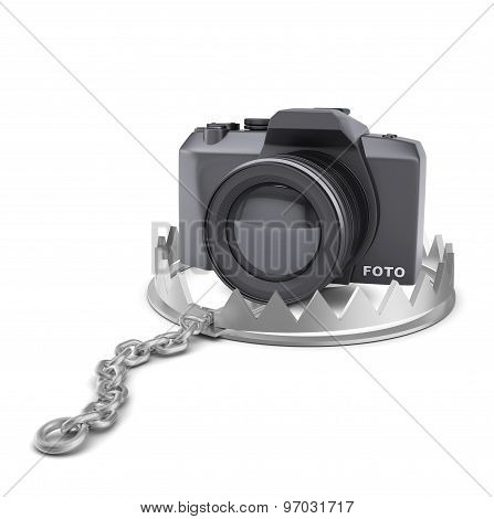 Camera in bear trap