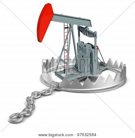 Oil pump in bear trap