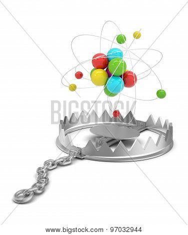 Atom structure in bear trap