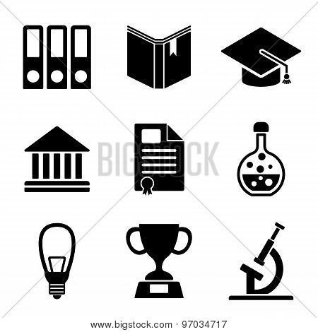 Back To School Web And Mobile Logo Icons Collection