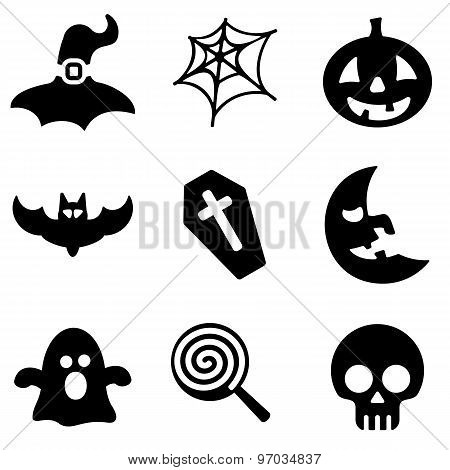 Halloween Web And Mobile Logo Icons Collection