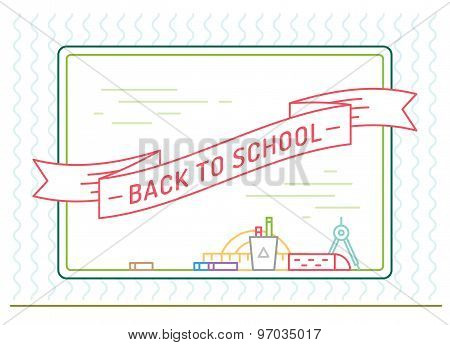Back to school. Education, books, university and college, board or knowledge, book. Stock design ele