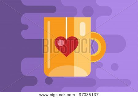 Vector cup linear icon. Tea, drink, dinner and food, creative or idea, designer brainstorm