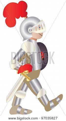 boy in shining knight costume