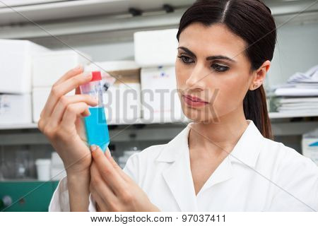 Woman doing experiments in a lab