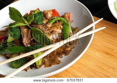 Drunken Noodle Thai Dish
